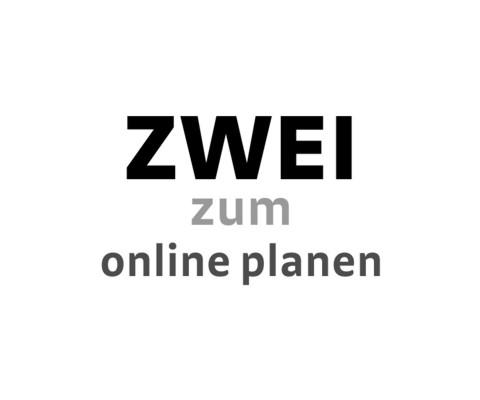 """Logo """"zwei zum online Planen"""""""