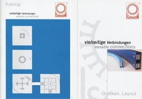 Cover von zwei Bestellkatalogen für ein Aluminium-Messebausystem