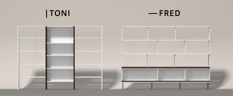 Sekrecht oder waagerecht durchlaufende Elemente als Gestaltungsprinzip